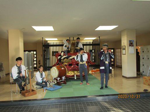 秋天のもと曳山囃子のミニ発表会を開催しました